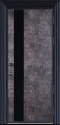 现代灰白拼接门