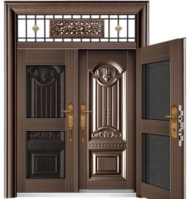 非标玻璃拼接门_复合门6015